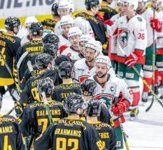 """HK """"Olimp/Venta 2002"""" pārliecinoši iesoļo Latvijas hokeja čempionāta finālā"""