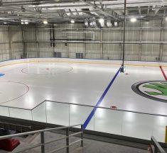 Daugavas ledus halle – treniņi būvlaukumā