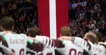 Latvijas hokeja izlase.Foto: Andre Ringuette/HHOF-IIHF Images