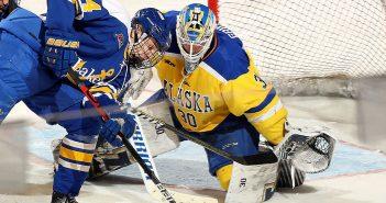 Gustavs Dāvis Grigals. Foto: Twitter/@WCHA_MHockey